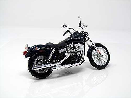 Harley Davidson FXDBI Dyna, metálico-azul oscuro, 2006, Modelo de Auto, modello completo, Maisto 1:12