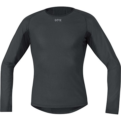 GORE WEAR Herren M Windstopper Base Layer Thermo Langarm Shirt, Black, M