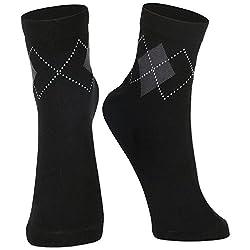 DUKK Men's Solid Black Ankle Length Socks