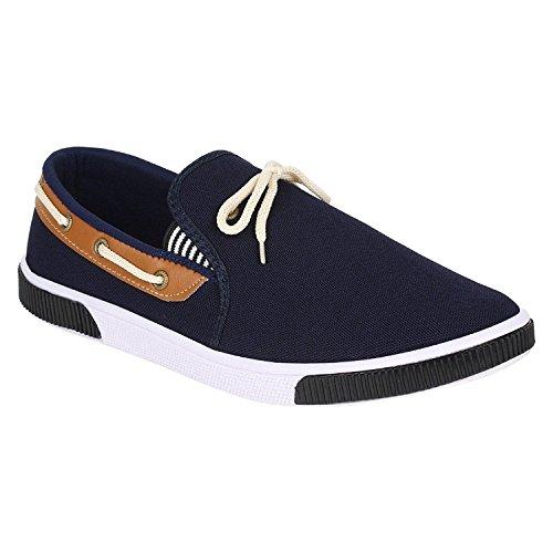 Birde Men's Blue Canvas Loafers - 8