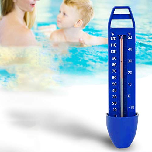 MMLC Pool Thermometer Premium Wasserthermometer Pool Spa Teile Zubehör Poolthermometer (Blau)