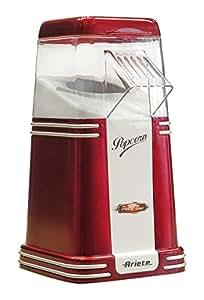 Ariete 2952 Popcorn Popper - Macchina per Pop Corn Compatta, Cottura ad aria calda senza grassi, 1100W, 60gr di mais pronti in meno di 2', Rosso