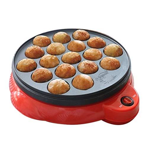 Xiao Ai's shop Küchenkleingeräte, Tintenfischbällchen, Antihaftpfanne, Küchenballmaschine, Tintenfisch,Red -