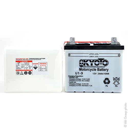 Kyoto - Motorrad Batterie U1-9 / U1-L9 12V 24Ah