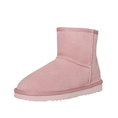 SKUTARI Wildleder Damen Winter Boots | Extra Weich & Warm Gefüttert | Schlupf-Stiefel mit Stabile Sohle | Pailletten Glitzer Meliert Schlangen-Look (38 EU, Rosa) (Schuhe Pailletten Stiefel)