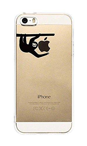 Qissy® TPU iPhone 5 SE 5S Hülle Transparente Steigung Softshell Silikon Schutzhülle Nette Katze und Hund (iPhone 5 5S SE, 6) 11