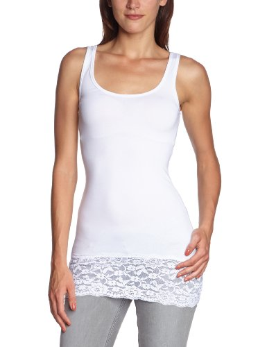 ONLY - 15072354, Top da donna, Bianco (Weiß (WHITE)), Small
