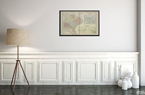 South Buffalo (1880Karte von New York Grand Island townshi; South Buffalo Villag; Buffalo Plains Villag f. W. Schröder Beers & Co. (Cartographer)  Historic Antik Vintage Reprint Ready Zum Rahmen)