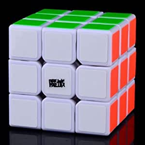 Jieluomao Moyu Weilong V1 Vitesse Cube concurrence 3X3 version 57mm (Blanc)