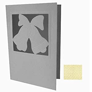 Faltkarte dekorativ -Glocken (272)- elfenbein