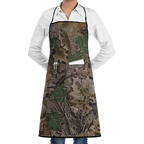 xcvgcxcvasda Einstellbare Latzschürze mit Tasche, Realtree Camo Wallpapers Commercial Chef Schürze with Pocket Unisex Restaurant Kitchen Bib Schürze Machine Washable Perfect for Cooking Baking -