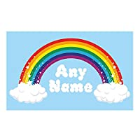 Rainbow Wall Art. Choose any name vinyl sticker 3 sizes, full colour decal