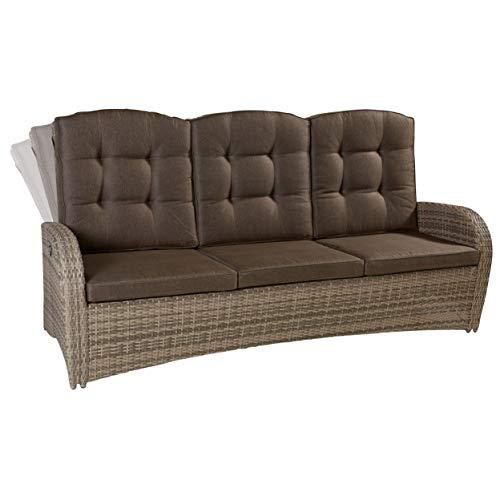 Wholesaler GmbH LC Garden 3er Sofa Dreisitzer Turin Living Natur Gartenmöbel Couch