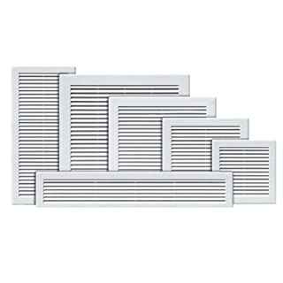 Air Vent Grille Cover 200 x 200mm (8 x 8inch) White Ventilation Cover