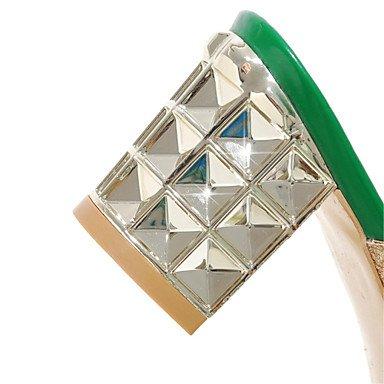 RTRY Donna Sandali Estivi Scarpe Club Glitter Materiale Personalizzato Abito Da Sposa Party & Sera Chunky Blocco Tacco Heelrhinestone US6 / EU36 / UK4 / CN36