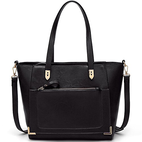 TcIFE Damen Handtaschen Umhängetasche Taschen Handtasche Shopper Schwarz