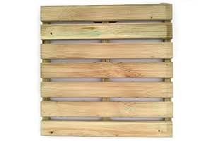 Dalle en bois aktion dalle de terrasse en pin rainur - Dalle bois 50x50 ...