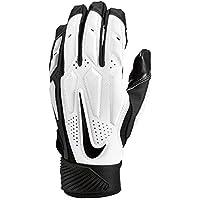 Nike d-tack 6Lineman Gloves, Bianco/Nero, Large
