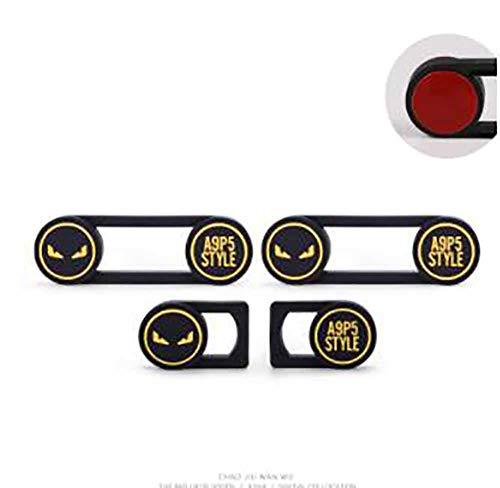 JYXQC Autozubehör Stoßstangenschutz Weiches PVC-Gummimaterial Antikollisionsstreifen Zierverkleidungen,Yellow