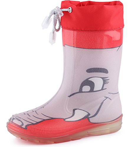 Ladeheid Childrens Rubber Boots Rain Boots PA120PM