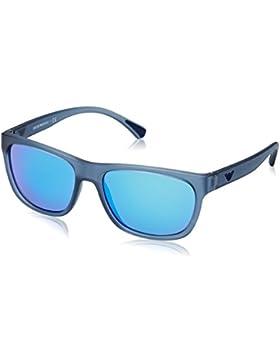 Emporio Armani EA4081, Occhiali da Sole Unisex-Adulto, Blu (Blau/Glas Blau), 57