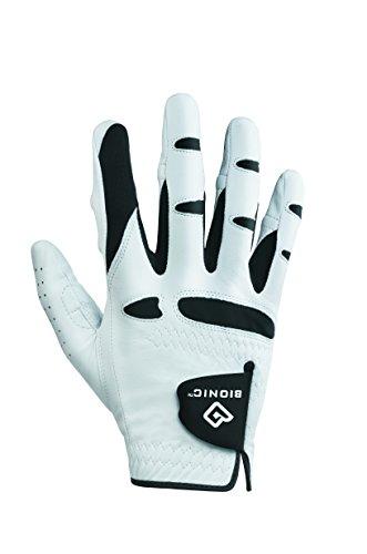 Bionic Handschuhe–Herren Golfhandschuh StableGrip Golf Handschuh W/patentierte Natürliche Passform Technologie aus Langlebig, robust echtem Cabretta-Leder, weiß, rechts (Herren Bionic Golfhandschuh)