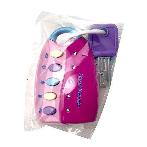BeesClover Baby-Spielzeug, Musik-Autoschlüssel, Smart-Fernbedienung, Stimmen für Das Auto, zum Spielen von Musik Rose (Smart-auto-fernbedienung)