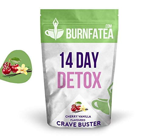Burnfatea 14 Day Crave Buster Teatox, Cherry Vanilla  -14 Pouches/Pack Test