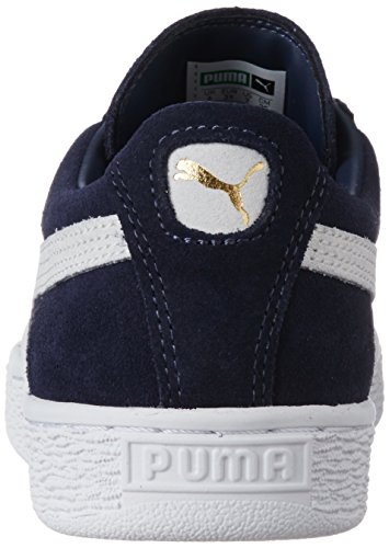 Puma Suede Classic  Unisex Adults Low-Top Trainers  Blue  Peacoat White 51   5 UK  38 EU