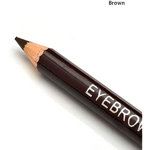 Dynry (TM) Buena calidad del leopardo l¨¢piz delineador de ojos con la ceja del metal del cepillo Eyeliner exclusivo cinco colores Env¨ªo de la
