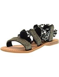 GIOSEPPO sandalias de los zapatos de las mujeres planas 40501-24 Quetzalí talla 36 Color blanco tEyHzf