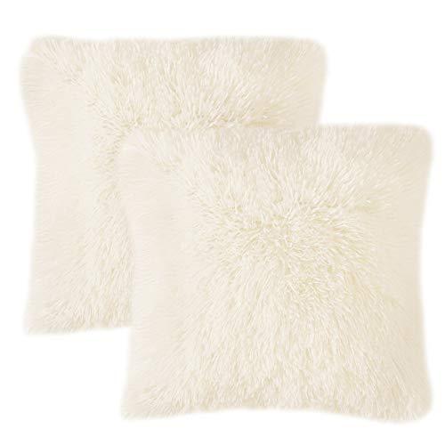 Miulee set of 2 cuscini divano decorativo fodere cuscini lussuoso arredo casa per divano letto auto 18 x18 pollici 45 x 45 cm beige