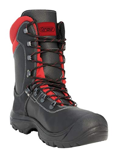 Forststiefel Forrester KWF Schnittschutzstiefel Sicherheitsschuhe Waldarbeiter, Schuhgröße:45