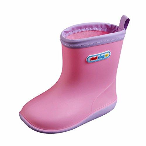 WEXCV Unisex Baby Jungen Mädchen Gummistiefel Kinder Einfarbig Schuhe Kinderschuh rutschfest Wasserdicht Schuhe Regenstiefel