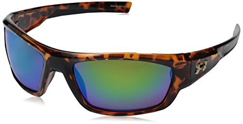 Under Armour Force Storm Polarized Rectangular, Shiny Crystal Tortoise/Black, 61 mm