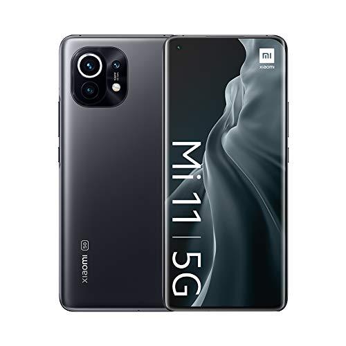 "Oferta de Xiaomi Mi 11 5G - Smartphone 8GB + 128GB, 6.81"" WQHD+ AMOLED DotDisplay, Qualcomm Snapdragon 888, cámara triple de 108MP + 13 MP + 5MP, 4600 mAh, NFC, Gris Medianoche (Versión oficial)"