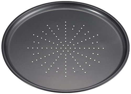 IBILI Pizzablech Moka 32 cm, Stahlblech, schwarz, 32 x 32 x 2 cm