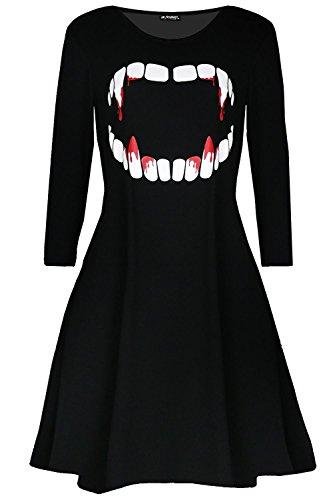 Vampir Kostüm Damen Kurz - Be Jealous Damen Halloween Kostüm Vampir