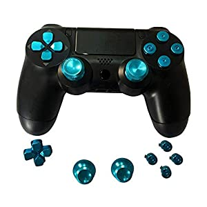 Sony PS4 Playstation 4 Controller Button Set Aluminium – Blue