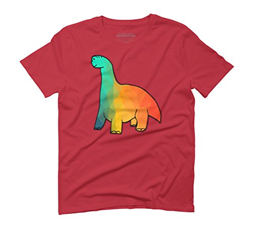 Crappy Dinosaur 2 Men's Graphic T-Shirt - Design By Humans Red
