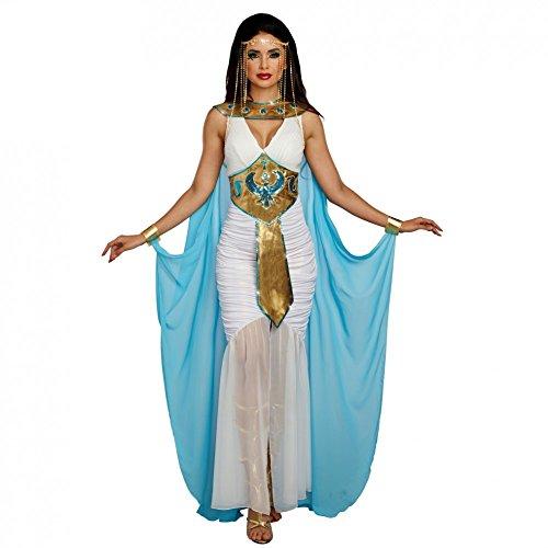 Premium bodywear ag costume egiziano per donna vestito bianco blu carnevale  antico egitto cleopatra ( 676a65599ada