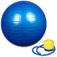 Piesome Exercise Non-Slip Stability Anti Burst Yoga Ball (75 cm with Pump , Blue)