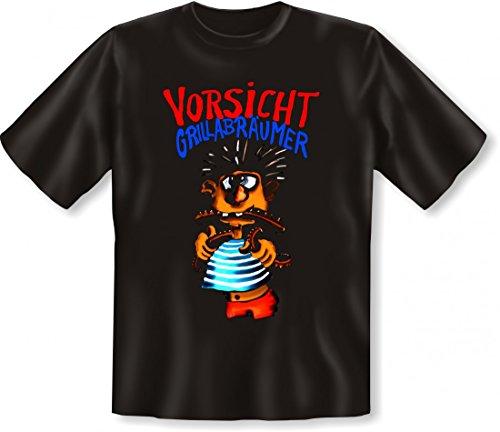 Lustiges T-Shirt - Vorsicht ! Grillabräumer ! - Geschenk Idee für jeden Grill Gourmet Gierschlund und Connaisseur Größe:5XL