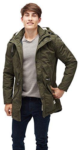 TOM TAILOR DENIM für Männer Jacket funktionaler Parka mit Kapuze woodland green M