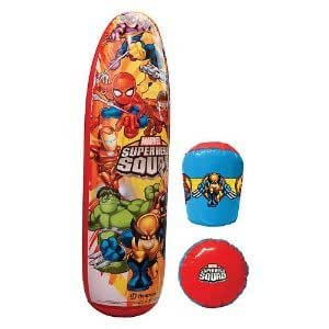 Marvel Super Hero Squad Sac de Boxe + 2 Gants de Boxe Gonflable