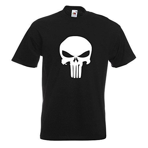 KIWISTAR - Totenkopf T-Shirt in 15 verschiedenen Farben - Herren Funshirt bedruckt Design Sprüche Spruch Motive Oberteil Baumwolle Print Größe S M L XL XXL Schwarz