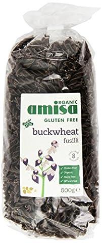 Amisa Organic Pure Buckwheat Fusilli 500 g (Pack of 5)