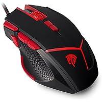 [Oferta] Ratón Gaming, EasySMX V18 Gaming Mouse Óptico 4000 DPI LED Luz 9 Botones (Fire/Sniper Botón) con Pesa para PC y Laptop (Negro)