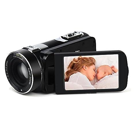 SEREE Kamera Camcorder Full HD 1920x1080p 24.0MP Digital Video Recorder PC CAM Mit Fernbedienung