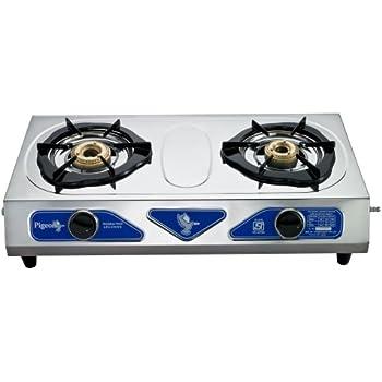 pigeon stainless steel duo lpg stove 2 burner